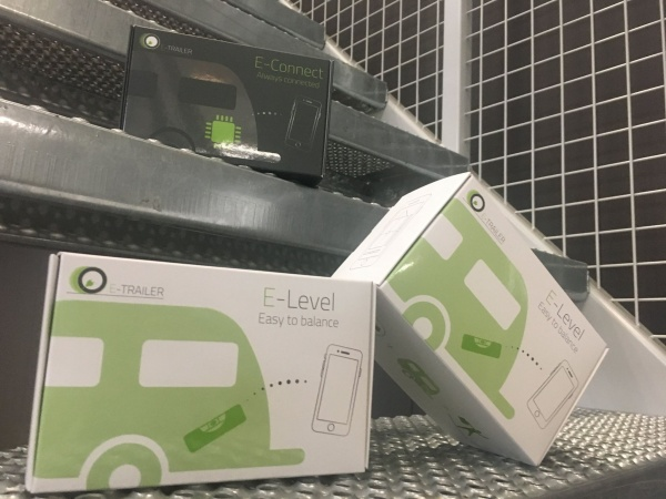 verpakking E-level & E-connect, E-trailer drukkerij Van Der Louw